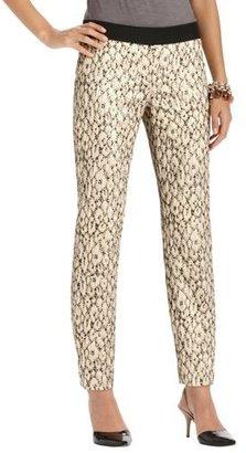 LOFT Zoe Ankle Pants in Puckered Metallic Leopard Jacquard