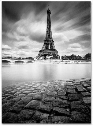 STUDY Trademark Fine Art 24 in. x 16 in. Eiffel Tower I Canvas Art