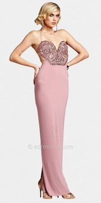 Mignon Sexy Backless Jeweled Bodice Evening Dresses