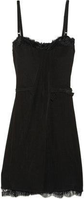 D&G Lace-embellished crepe dress