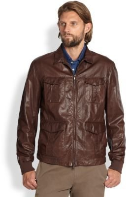 Brunello Cucinelli Sahara Leather Jacket