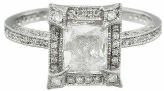 Cathy Waterman Pavé Frame Emerald Cut Diamond Ring
