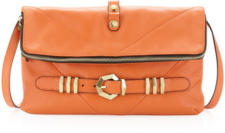 Oryany Rocker Flap Buckle Crossbody Bag, Orange