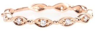 Stone Paris 18kt Rose Gold Yasmine Phalanx Ring With White Diamonds