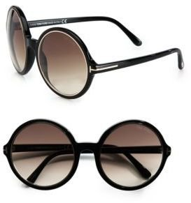 Tom Ford Carrie Round Plastic Sunglasses