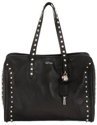 Alexander McQueen Stud Lined Skull Padlock Top Handle Bag