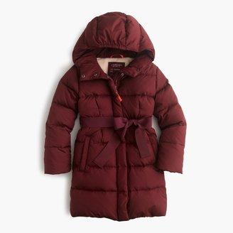 J.Crew Girls' long powder puffer coat