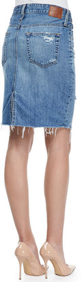AG Adriano Goldschmied Erin 16-Years Ascension Denim Skirt