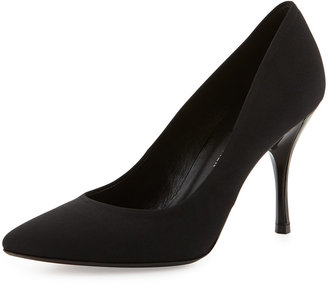 Donald J Pliner Brave Point-Toe Crepe Pump, Black