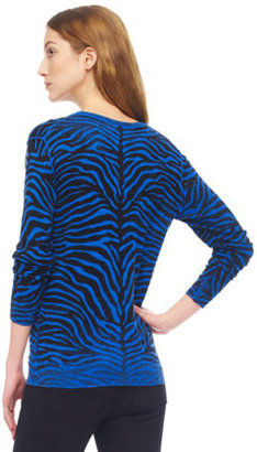 MICHAEL Michael Kors Zebra-Print Sweater