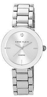 Anne Klein Women's Silvertone Adjustable Bracelet Watch