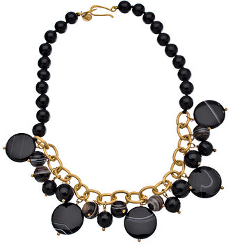 Wendy Mink Knotted Black Onyx Agate Necklace