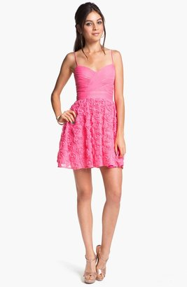 Hailey Logan Rosette Party Dress (Juniors) (Online Only)