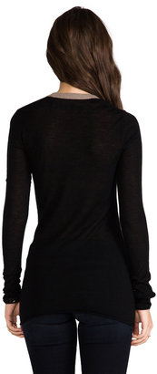Enza Costa Cashmere Colorblock Bold U Sweater