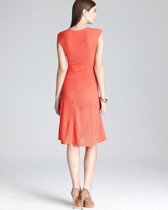 Catherine Malandrino Pointelle Dress - Multi A Line