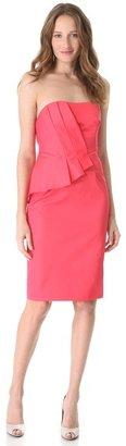 Lela Rose Wrapped Strapless Dress