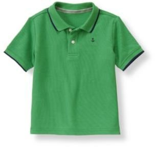 Janie and Jack Anchor Tipped Polo Shirt
