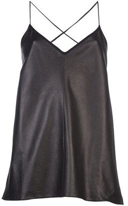 Holmes & Yang Perforated Leather Camisole