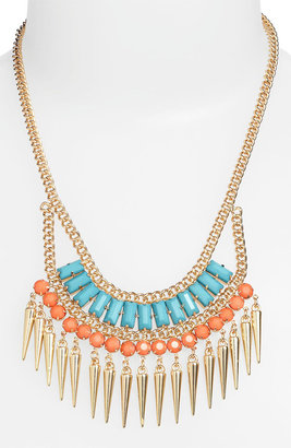 Stephan & Co Exotic Spike Statement Necklace