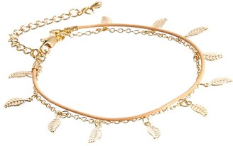 Asos Limited Edition Leaf Leather Bracelet