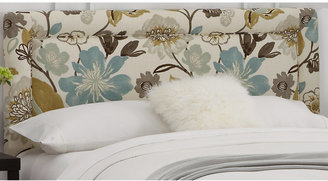 Rooms To Go Cybelle Blue Floral Queen Headboard