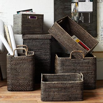 west elm Modern Weave Storage Bin - Blackwash