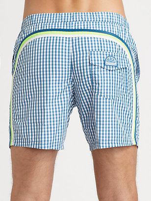 Sundek Gingham Board Shorts