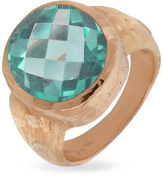 Torrini Stefy - Green Amethyst Oval Gemstone 18K Rose Gold Ring