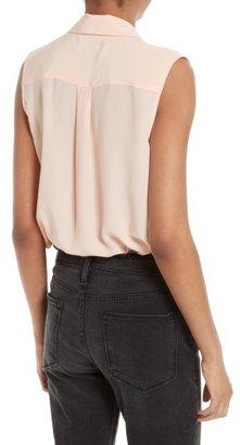 Equipment Women's 'Slim Signature' Sleeveless Silk Shirt