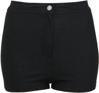Miss Selfridge Schwarze Disco-Jeans-Shorts