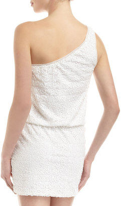 Max & Cleo One-Shoulder Sequined Dress