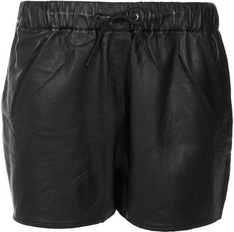Topshop Leather Shorts By Boutique