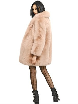 Saint Laurent Fox Fur Coat
