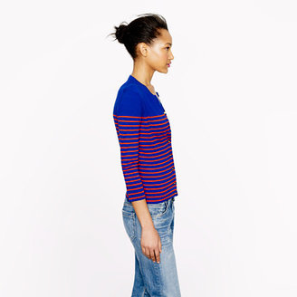 J.Crew Jackie cardigan in stripe with anchor buttons