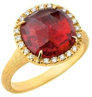 Marco Bicego 18ct yellow gold stone & diamond set ring