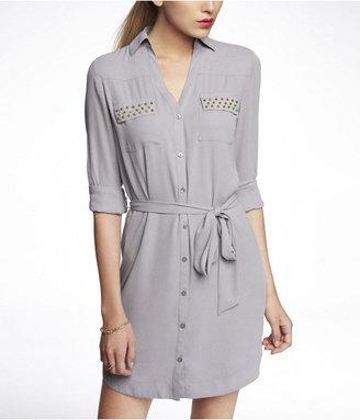Express Studded Portofino Shirt Dress