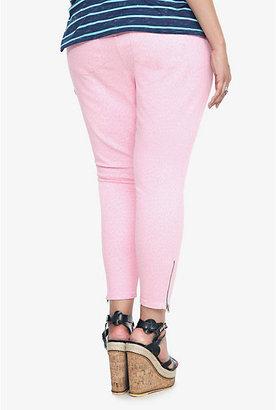 Torrid Denim - Pink Leopard Ankle Zip Stiletto Jeans