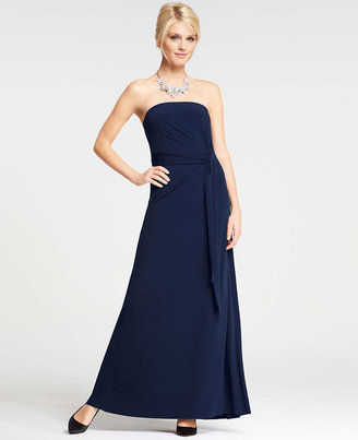 Ann Taylor Strapless Jersey Gown