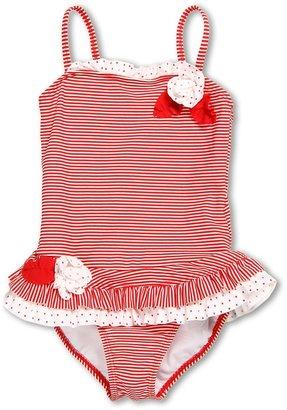 Kate Mack Red Regatta Swimsuit (Little Kids) (Red) - Apparel