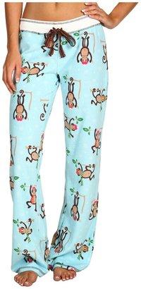 PJ Salvage Monkeying Around Velour Thermal Pajama Pant (Aqua) - Apparel