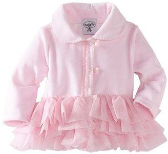 Mud Pie Baby-girls Newborn Velour Coat