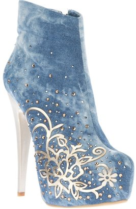 1 To 3 1To3 embellished denim boot