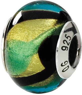 Murano Prerogatives Sterling Multicolored Italian Glass Bead