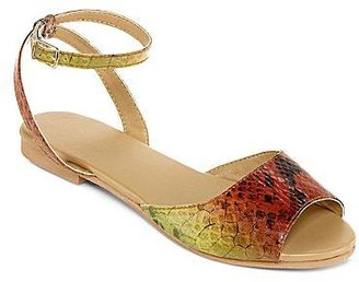 JCPenney Faux-Snake Skin Sandals