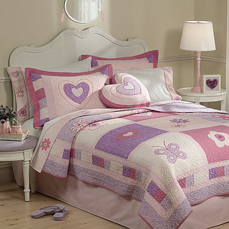 JCPenney Spring Hearts Twill Quilt Set