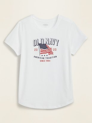 Old Navy EveryWear 2020 U.S. Flag Graphic Tee for Women