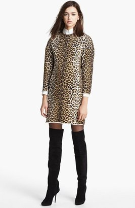 3.1 Phillip Lim Sculpted Leopard Print Dress