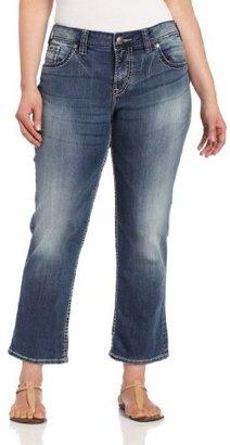 Silver Jeans Juniors Plus-Size Suki Flap Capri
