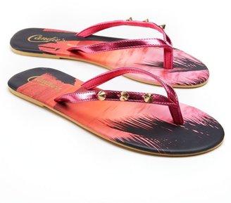 Candies Candie's ® studded sunset flip-flops