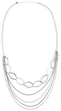 Arden B Long Geometric Chain Necklace